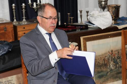 2021 04 30 Bernhardkazerne 10 bijeenkomst Reniecommissie t.g.v. proefdruk jubileumboek 103 Verbat. Maj b.d. Melchior v Ommen Kloeke