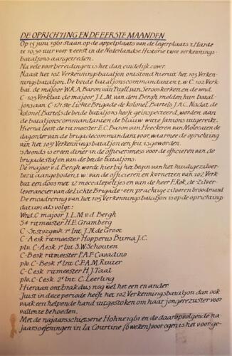 3c. 1961-06-15 103 Verkbat; Verslag van de oprichting van het 103e Verkenningsbataljon.