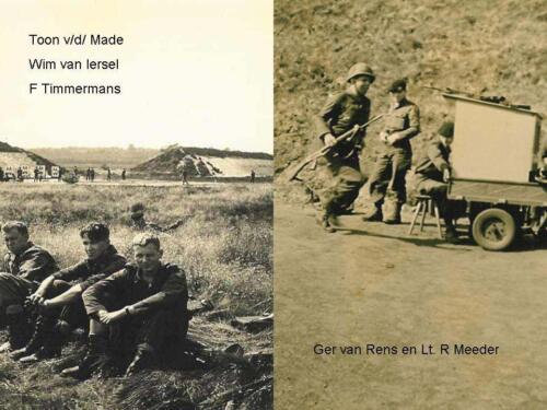 7a. 1966 1967 A Esk 103 Verkbat Zie tekst op fotos. Bergen Hohne1967. Esk Kwinten