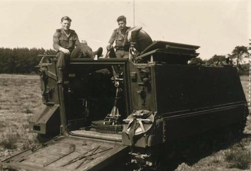 9. 1966 - 1967 A-Esk Kwinten 103 Verkbat Schietseries; M106 Mortier 120 mm