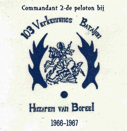 De diverse uitvoeringen van het Trakehner embleem voorbehouden aan het 103e verkenningsbataljon. 12