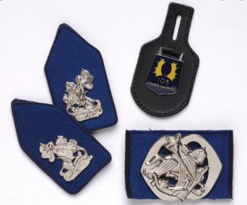 De diverse uitvoeringen van het Trakehner embleem voorbehouden aan het 103e verkenningsbataljon. 9