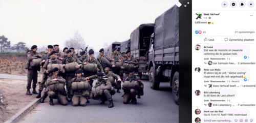1986 04 6 t m10 103 Verkbat Oefening Gereed voor afmars per DAF
