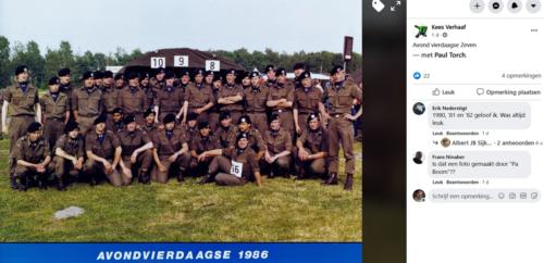 1986 103 Verkbat Avondvierdaagse te Zeven met o.a Paul Torch. Inz. Kees Verhaaf