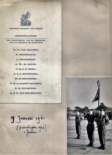 196101 19 Beediging van de inzender tlnt Hans v. Houten. Standaarddrager Aooi J. Lahuis