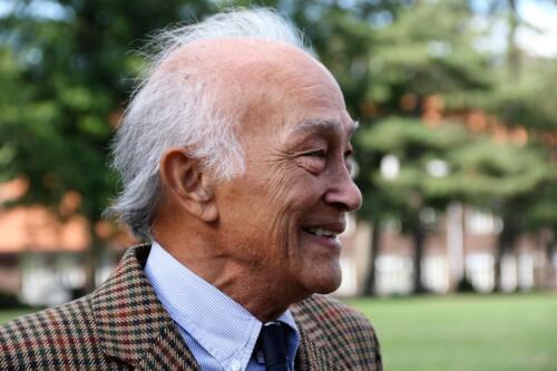 2018 09 21 Bernhardkazerne Amersfoort Maj. b.d. Henk Nix tijdens bijeenkomst 100 jaar SROC