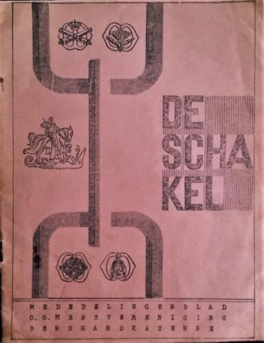 1965 05 blz.1. Uitgave mededelingenblad De Schakel Onderofficiersmess Bernhardkazerne 1