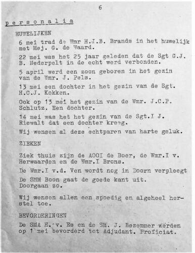 1965 05 blz.1. Uitgave mededelingenblad De Schakel Onderofficiersmess Bernhardkazerne 4