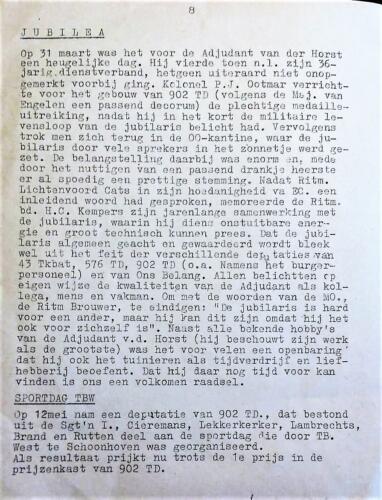 1965 05 blz.1. Uitgave mededelingenblad De Schakel Onderofficiersmess Bernhardkazerne 5
