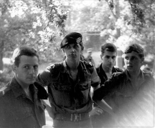 1967 07 01 Leusderheide Wmrs Ruud Deibert Hans Kuijpers Herman Brilleman en Lonja Woonings Inz. Hans Kuijpers
