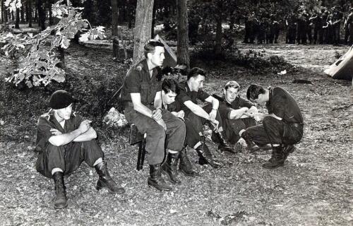 1967 07 05 Oefening Leusderheide Wmr Dijkstra Deibert Brilleman en de laatste van Noort Inz. Hans Kuijpers