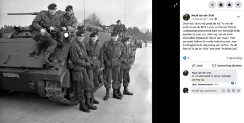 1969 03 A Esk 103 Verkbat Oef omgeving Hohne inz. Ruud v der Sluis op de bok met Joop Lodewijk. Zie tekst