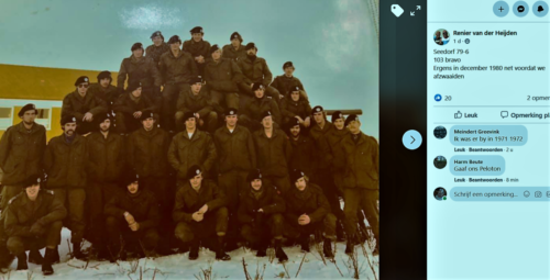 1980 12 B Esk li 79 6 103 Verkbat Afzwaaifoto met o.a rechts Elnt Harm Beute