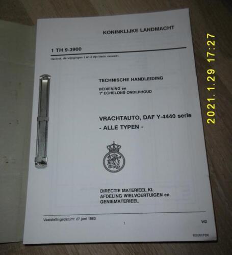 Technische handleiding DAF Y 4440 serie